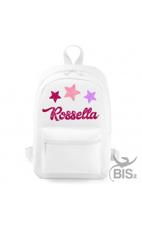 "Personalized Backpack MINI ""Simplex"" Glitter Star"