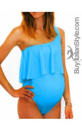 Ruffle Maternity Swimsuit