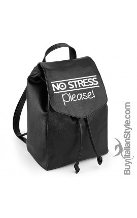 "Zainetto in eco-pelle ""no stress please"""