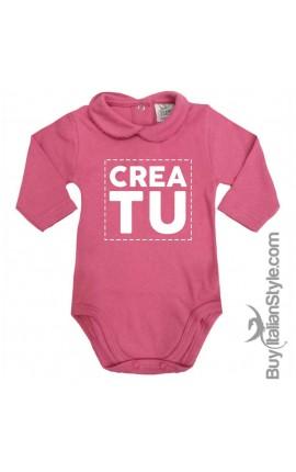 Body neonata invernale con colletto personalizzabile