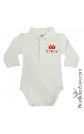 "Body polo manica lunga ""Prince"""