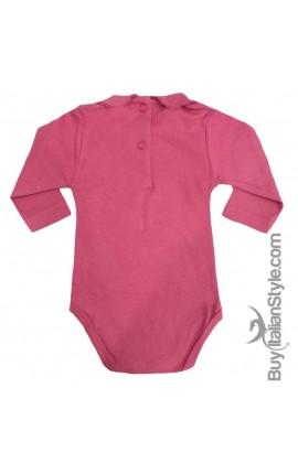"""Body colletto neonata manica lunga """"innamorata pazza del mio pazza del mio papà"""""""