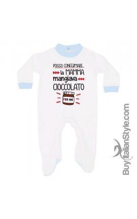 """Tutina neonato estiva/invernale """"Posso confermale la mamma mangiava cioccolato per me!"""""""