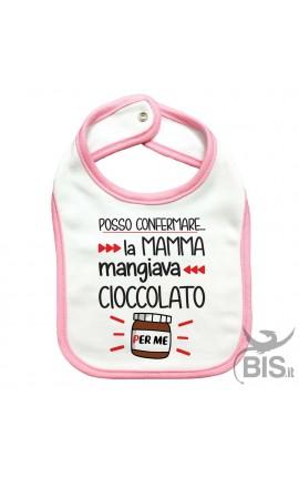 Bavaglino neonato posso confermare la mamma mangiava cioccolata per me