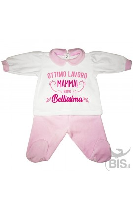 """Chenille Baby set""""I'm crazy in love with my mom"""""""