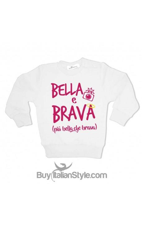 """Felpa bimba """"Bella & Brava"""""""