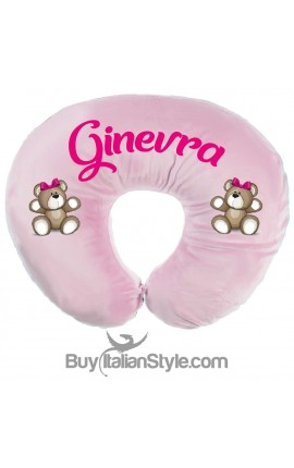 "Nursing pillow customizable with name, plus ""Teddy Bear"" print"
