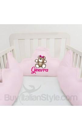 Customizable baby bumper with Teddy Bear Print