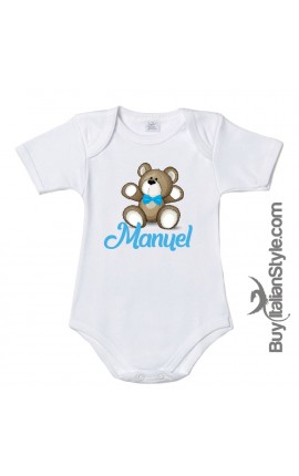 """Half-sleeve bodysuit  """"5 minutes of dad, 9 months of mum and now so cute here I am"""