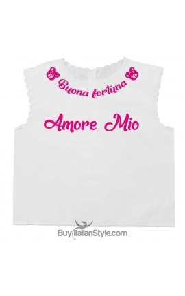 """Personalized Baby's First Shirt """"Good Luck + Name"""""""
