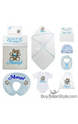 "Personalized Summer Layette ""Baby Fish"" Baby boy gift"