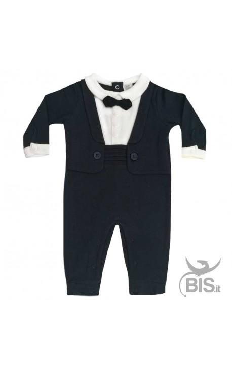 Baby Boy Bow Tie Romper