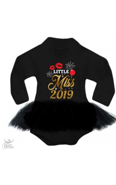 """Abitino neonata con tulle """"Little Miss 2019"""""""