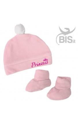 Coppia calzini cappellino in ciniglia personalizzabile con nome