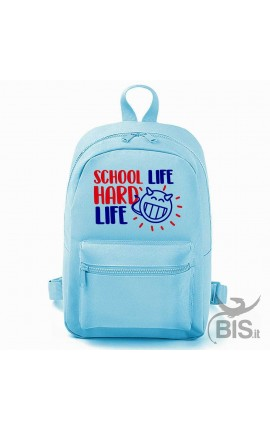 "Personalized Backpack MINI ""Simplex"" SCHOOL LIFE HARD LIFE"