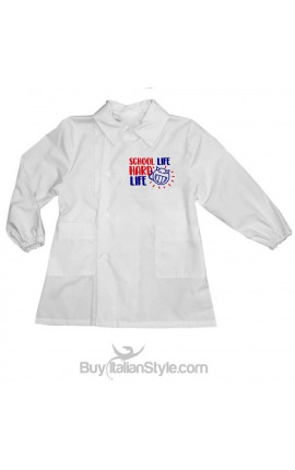 "Girl or Boy School Apron ""School Life HARD life"""