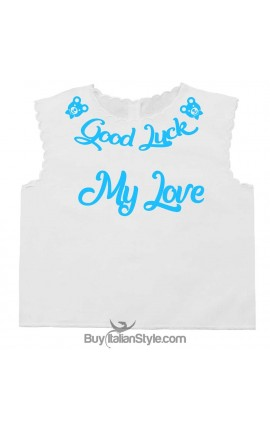 "Personalized Baby's First Shirt ""Good Luck + Name"""