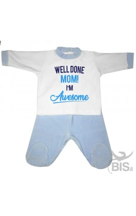 "Chenille Baby set""I'm crazy in love with my mom"""