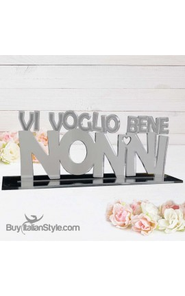 "Mirrored Plexiglass Plaque ""I love you, grandparents"""