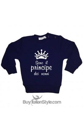 """Felpa bambina """"Sono il principe dei nonni"""""""
