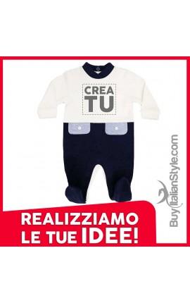 Tutina neonato bi-colore invernale personalizzabile