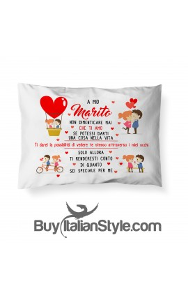 """Pillowcase with dedication """"To my Husband..."""""""