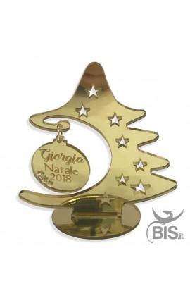Mini Albero di Natale in plexy specchiato con palla personalizzabile