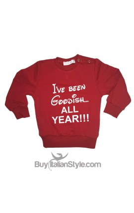 "SWEATSHIRT ""I've been Goodish all Year"""