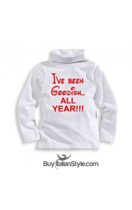 "Unisex Turtleneck Tee ""I've been Goodish all Year"""