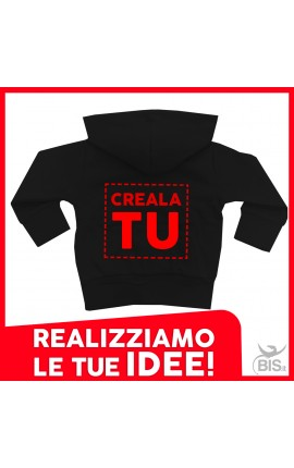 FELPA ZIP CON CAPPUCCIO MINI BOSS