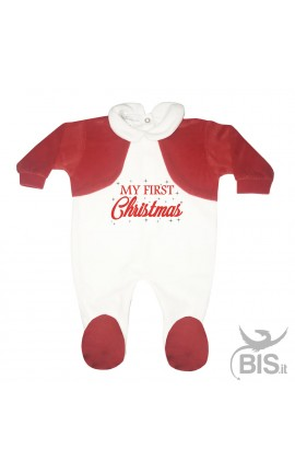 "Baby's Velour Sleeper ""My First Christmas"""