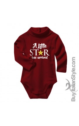 "Baby Neck Bodysuit ""A Little Star has arrived"""