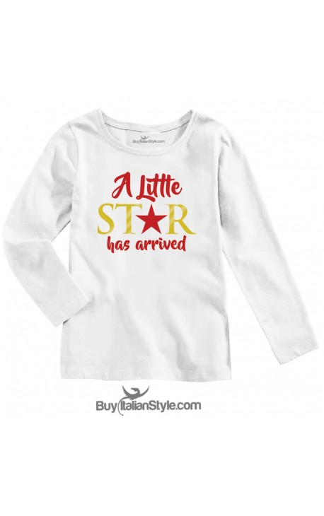 """BABY GIRL'S TEE """"A Little Star has arrived"""""""