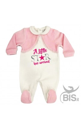 "Baby Girl Romper ""A Little Star has arrived"""