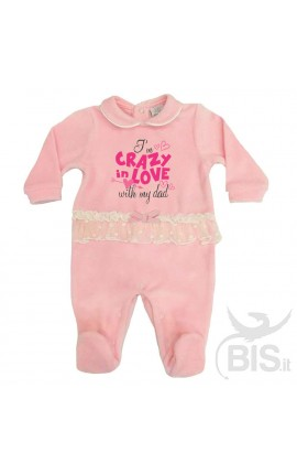 "Baby Girl Tulle Romper ""I'm crazy in love with my Dad"""