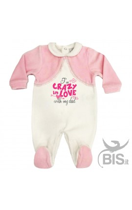 "Baby Girl Romper ""I'm crazy in love with my Dad"""