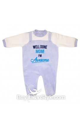 "Chinille newborn baby all in one ""Dad and I agree mom is the boss"""