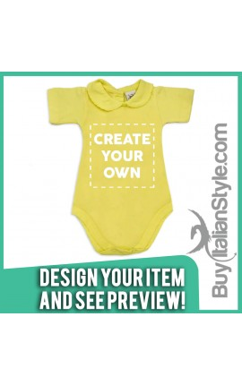 Baby Girl's Bodysuit with lace-bordered Collar Configuration
