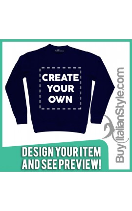 Customizable woman / man sweatshirt with text and photo