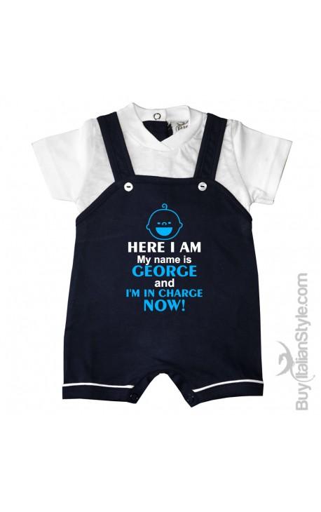 5ce64dbaa Personalized Baby Boy Romper Overalls