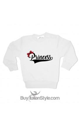 Felpa Bimba natalizia Princess con fiocco glitter