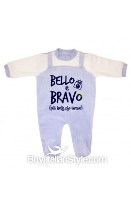 "Baby Overalls Romper ""Well done Mom! I'm Awesome"""