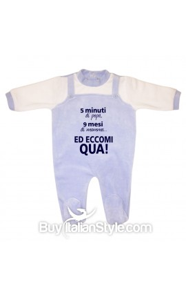 """Baby Overalls Romper """"Well done Mom! I'm Awesome"""""""