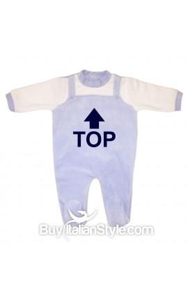 """Tutina neonato in ciniglia """"TOP"""""""