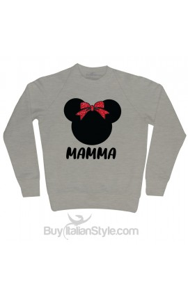 Personalized Christmas Women's Sweatshirt Little mouse+Name