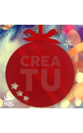 ornamento natalizio palla personalizzata