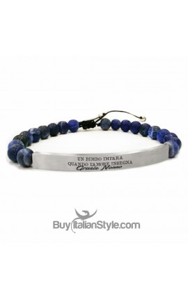 Thread Ball Bracelet with Personalized Plaque