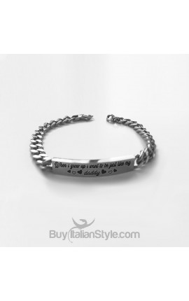 "Custom Mens Bracelet ""When I grow up I want to be just like my Daddy"""