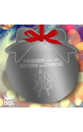"CHRISTMAS Ornament BOW ""Sisters"""
