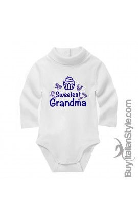 "Baby Neck Bodysuit ""Sweetest Grandma"""